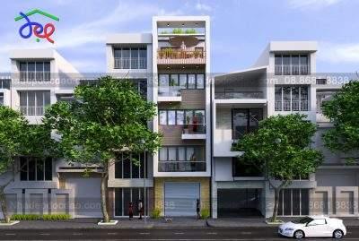 Mẫu thiết kế nhà phố 5 tầng kết hợp kinh doanh