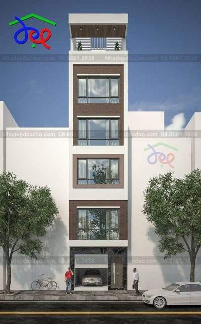Mẫu thiết kế nhà phố 5,5 tầng diện tích 43m2