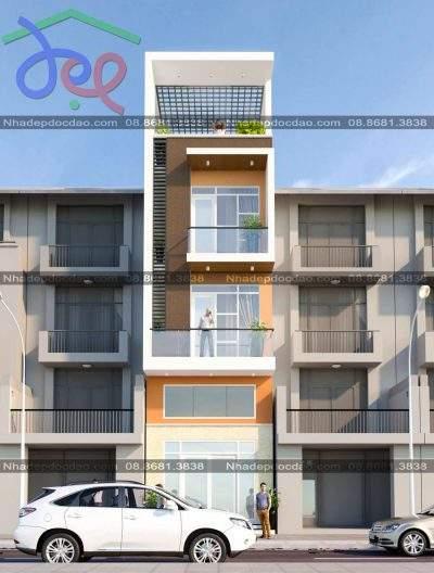 Mẫu nhà phố 4 tầng mặt tiền 4.5m