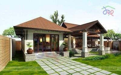 Mẫu thiết kế nhà vườn trên đất 1025m2