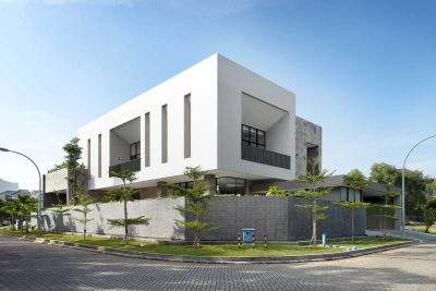 Mẫu thiết kế biệt thự 2 tầng trên đất 830m2