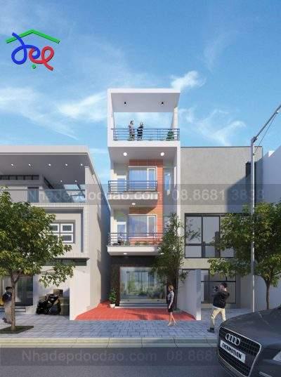 Mẫu thiết kế nhà phố 4 tầng trên đất 78m2, mặt tiền 5m