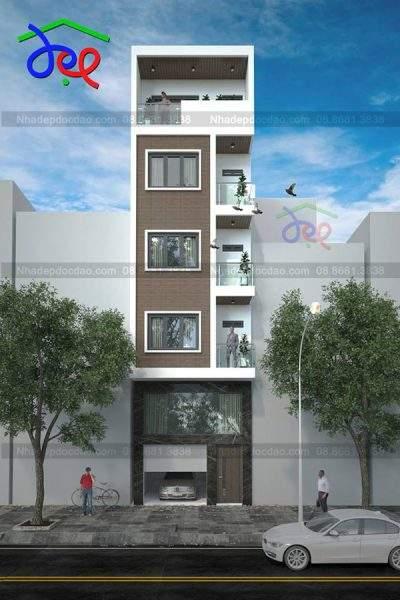 Mẫu thiết kế nhà phố 4 tầng 1 tum diện tích 50m2