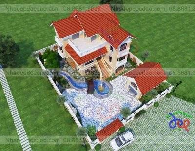 Mẫu thiết kế biệt thự 3 tầng Ninh Bình