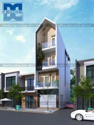 Mẫu thiết kế nhà phố 4 tầng kết hợp kinh doanh diện tích 63 m2