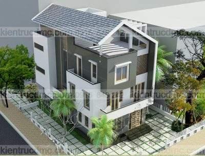 Mẫu thiết kế biệt thự 4 tầng diện tích 240m2