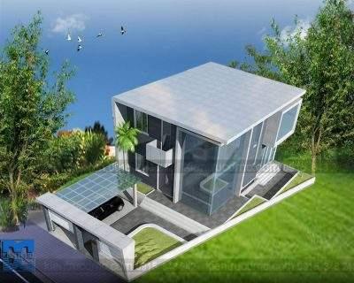 Mẫu thiết kế biệt thự mini 2 tầng diện tích 192m2