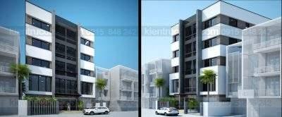 Mẫu thiết kế nhà ở kết hợp kinh doanh 5 tầng phong cách hiện đại