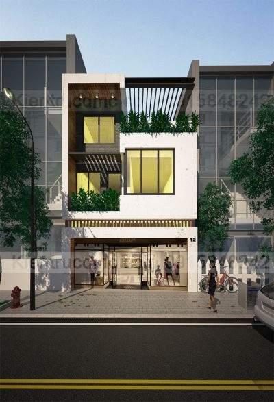 Mẫu thiết kế nhà ở kết hợp kinh doanh 3 tầng trên đất 82m2