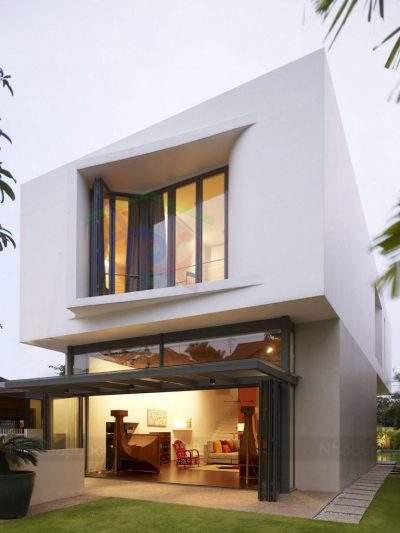 Mẫu thiết kế nhà phố 2 tầng trên đất 180m2 phong cách hiện đại
