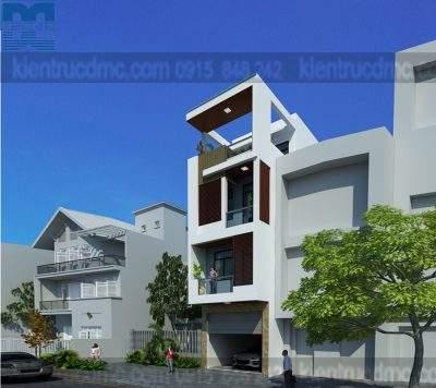 Mẫu thiết kế nhà phố 4 tầng diện tích 85m2