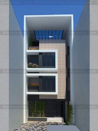 Mẫu thiết kế nhà phố 4 tầng diện tích 90m2