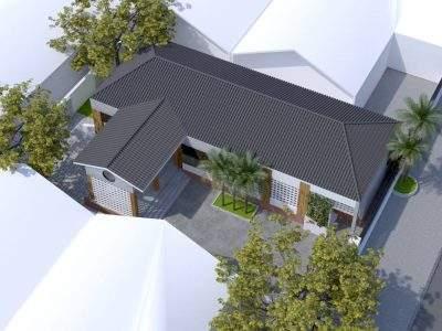 Mẫu thiết kế nhà vườn 1 tầng phong cách hiện đại