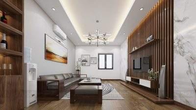 Mẫu thiết kế nội thất nhà phố 4 tầng phong cách hiện đại
