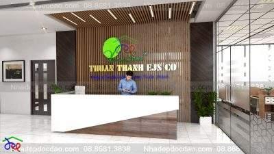Mẫu thiết kế nội thất văn phòng Công ty Môi trường Thuận Thành