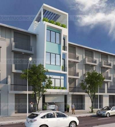 Mẫu thiết kế nhà phố lệch tầng diện tích 81m2