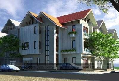 Mẫu thiết kế biệt thự phố 3 tầng 2 mặt tiền trên đất 230m2