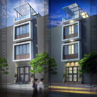 Mẫu thiết kế cải tạo nhà phố 4 tầng diện tích 43m2