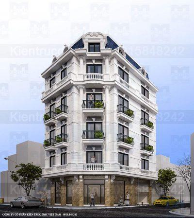 Mẫu thiết kế nhà ở kết hợp kinh doanh 5 tầng