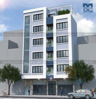 Mẫu thiết kế nhà ở kết hợp kinh doanh 6 tầng