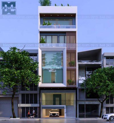 Mẫu thiết kế nhà ở kết hợp kinh doanh 6 tầng phong cách hiện đại