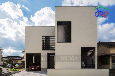 Mẫu thiết kế nhà phố 2 tầng với giếng trời thông thoáng