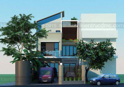 Mẫu thiết kế nhà phố 3 tầng phong cách hiện đại trên diện tích 180m2