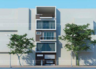 Mẫu thiết kế nhà phố 4 tầng trên diện tích60m2