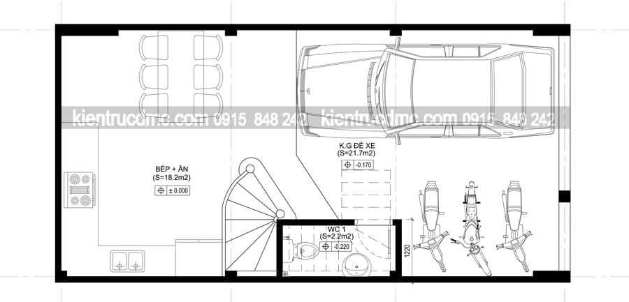 Mẫu thiết kế nhà phố 5 tầng trên diện tích 50m2