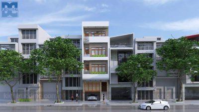 Mẫu thiết kế nhà phố 5 tầng trên diện tích 54m2