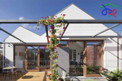 Mẫu thiết kế nhà vườn 1 tầng trên diện tích 165m2