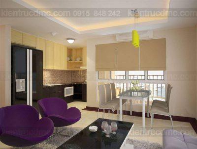Mẫu thiết kế nội thất chung cư diện tích 85m2 phong cách hiện đại