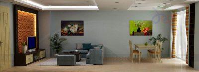 Mẫu thiết kế nội thất chung cư diện tích 90m2 phong cách hiện đại