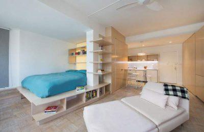 Mẫu thiết kế nội thất chung cư với căn hộ tầng áp mái sang trong, hiện đại