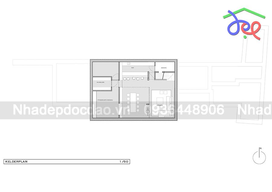 Mẫu thiết kế biệt thự 3 tầng trên diện tích 1250m2