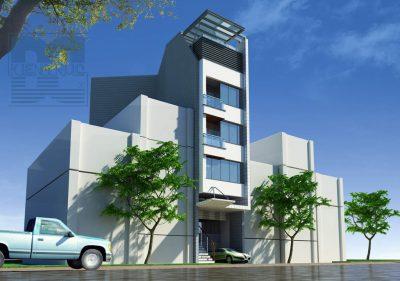 Mẫu thiết kế nhà ở kết hợp kinh doanh 6 tầng trên diện tích 261m2