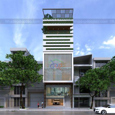 Mẫu thiết kế nhà ở kết hợp kinh doanh 7 tầng trên diện tích 94,5m2