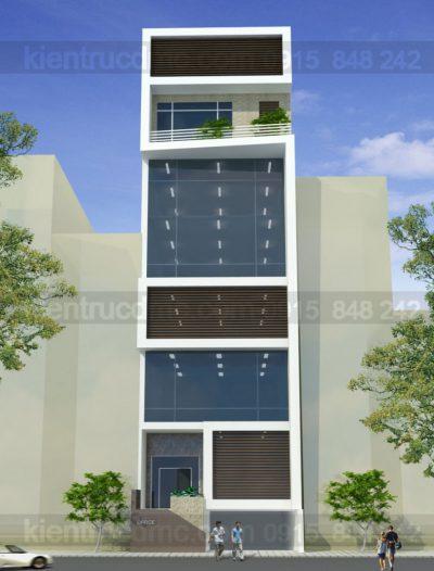 Mẫu thiết kế nhà ở kết hợp kinh doanh 8 tầng trên diện tích 119m2