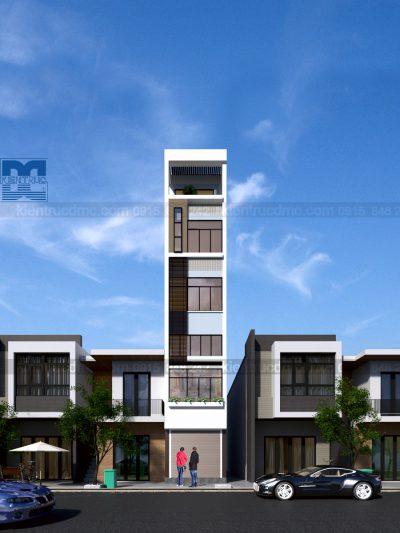 Mẫu thiết kế nhà ở kết hợp kinh doanh lệch tầng trên diện tích 46m2