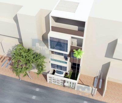Mẫu thiết kế nhà phố 4 tầng trên diện tích 84m2