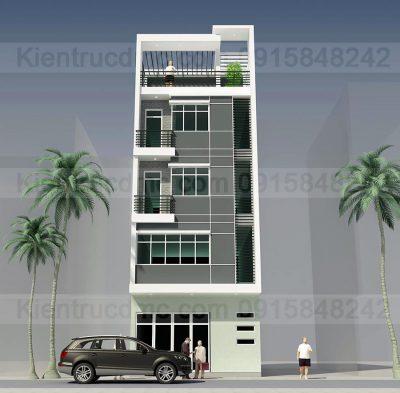 Mẫu thiết kế nhà phố 5 tầng mặt tiền 5m
