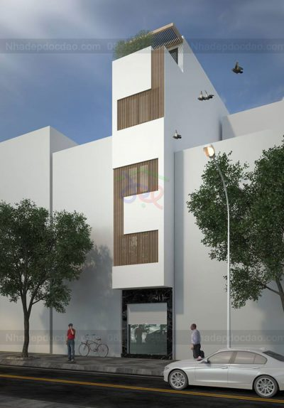 Mẫu thiết kế nhà phố 5 tầng trên diện tích 35m2
