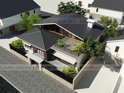 Mẫu thiết kế nhà vườn phong cách hiện đại trên diện tích 195m2