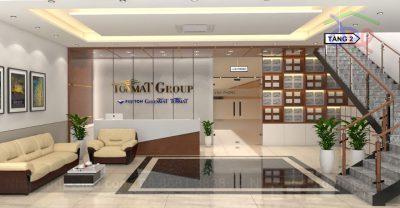 Mẫu thiết kế nội thất văn phòng Công ty Cổ phần Tonmat