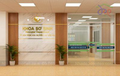 Mẫu thiết kế nội thất Khoa sơ sinh Bệnh viện Phụ sản Hà Nội