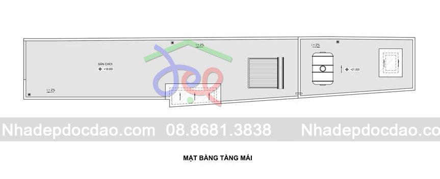 Mẫu thiết kế nhà ở kết hợp kinh doanh 6 tầng trên diện tích 49m2