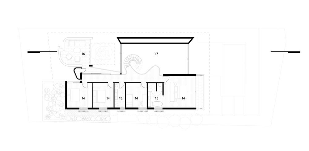 Mẫu thiết kế biệt thự 2 tầng phong cách hiện đại bên bờ biển