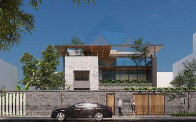 Mẫu thiết kế biệt thự phố 2 tầng trên diện tích 570m2