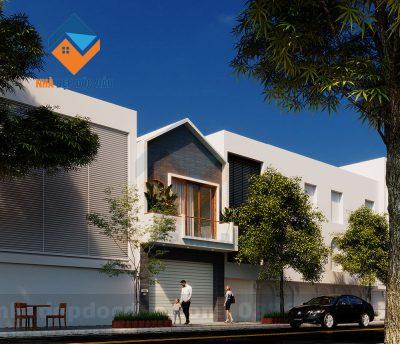 Mẫu thiết kế nhà ở kết hợp kinh doanh 2 tầng trên diện tích 94m2