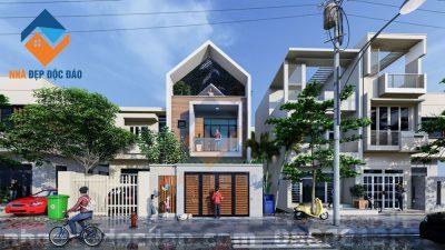Mẫu thiết kế nhà phố 2,5 tầng trên diện tích 180m2